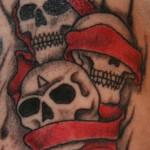 hear no evil skull tattoo