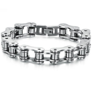 stainless steel chain bracelet biker fashion