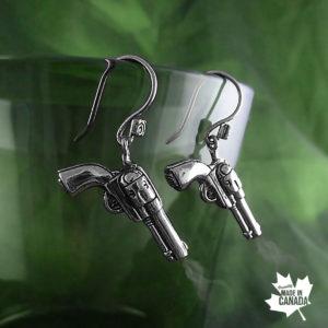 gun earrings biker fashion women