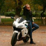 girl biker leather jacket