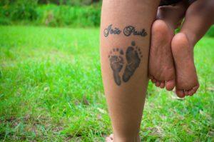 tattoo of baby feet