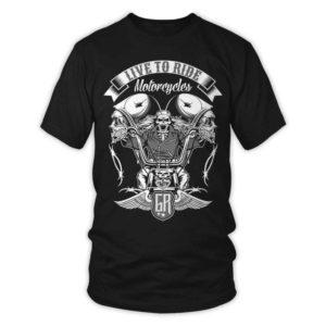 gothrider, biker t-shirt